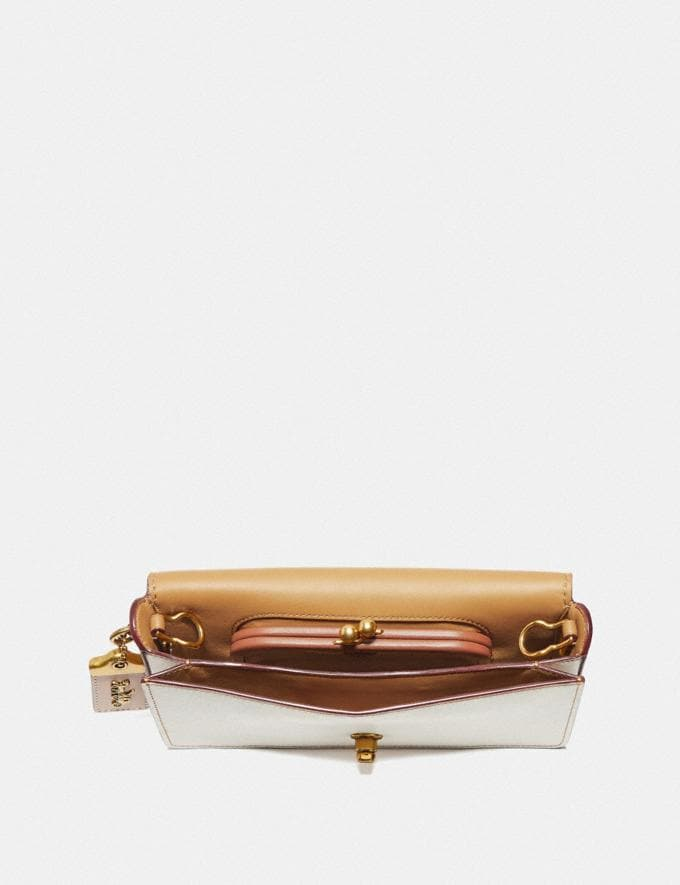 Coach Dinky With Rose Applique Chalk/Brass  Alternate View 1