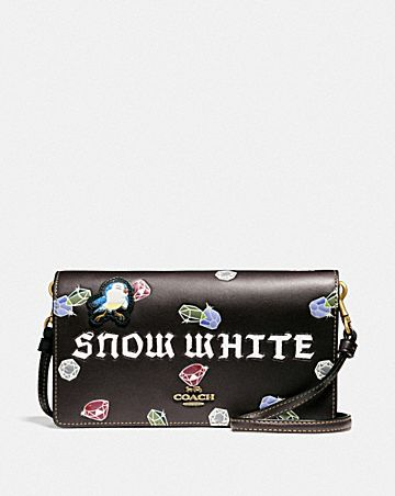 DISNEY X COACH SNOW WHITE HAYDEN FOLDOVER CROSSBODY CLUTCH