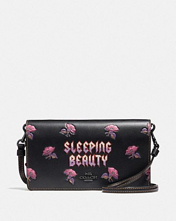 DISNEY X COACH SLEEPING BEAUTY HAYDEN FOLDOVER CROSSBODY CLUTCH