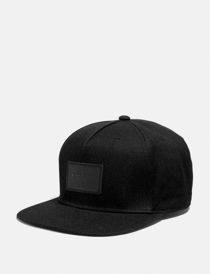 Coach Flat Brim Hat Black