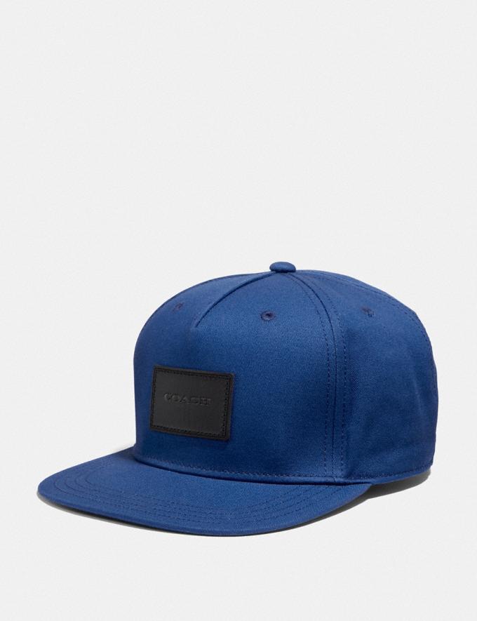 Coach Flat Brim Hat Cobalt