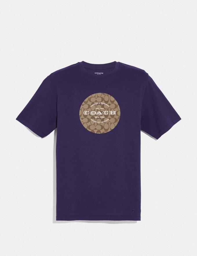 Coach Coach Signature T-Shirt Dark Purple