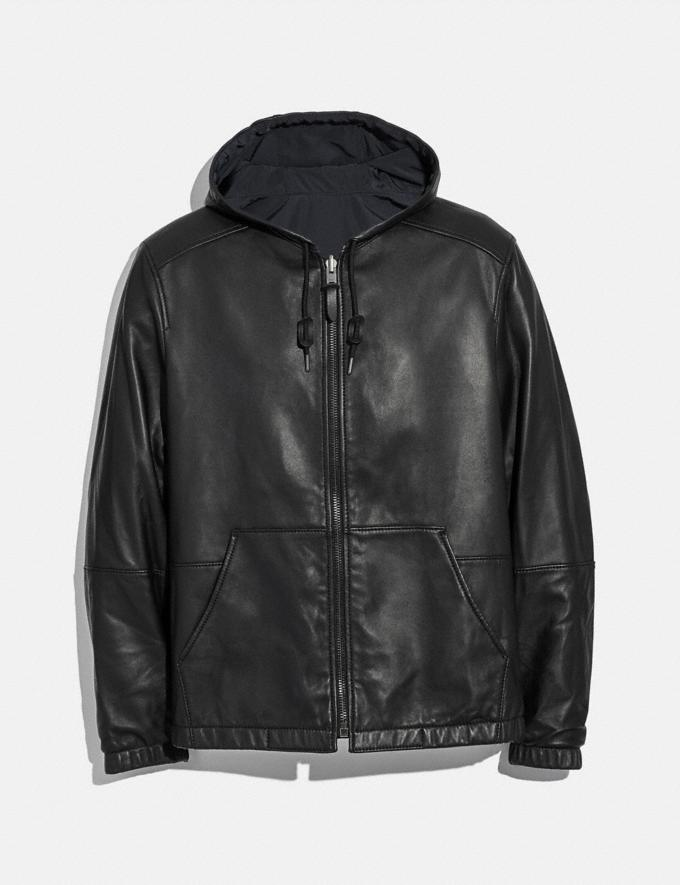 Coach Reversible Leather Trainer Black
