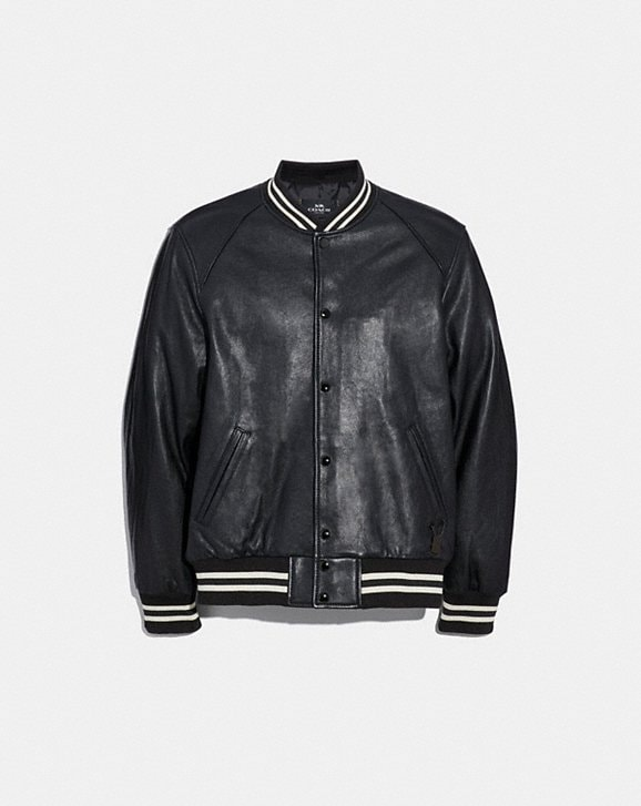 Coach LEATHER VARSITY JACKET