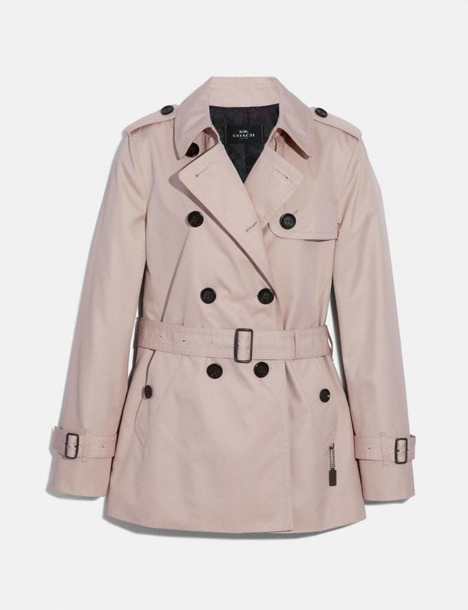 Coach Short Trench Porcelain