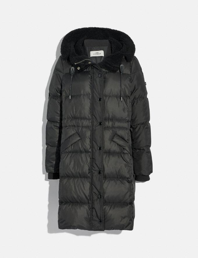Coach Long Puffer Black