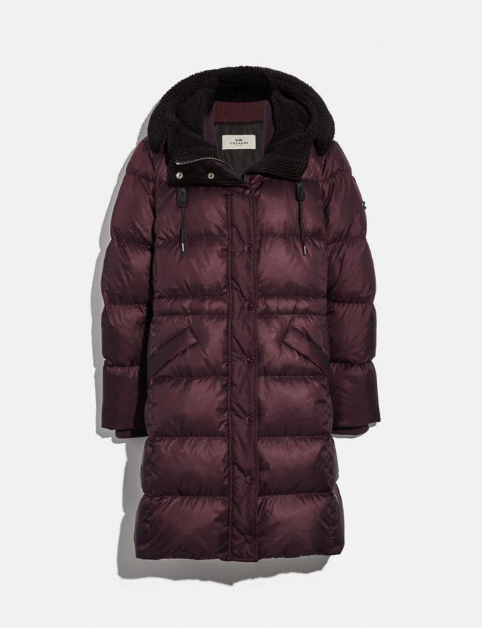 Coach Long Puffer Bordeaux