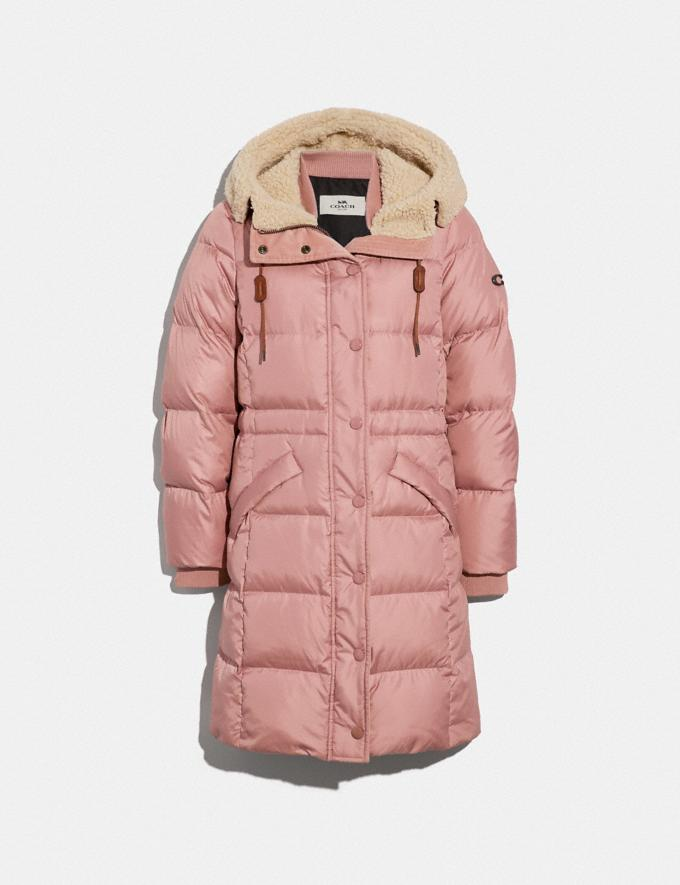 Coach Long Puffer Rose