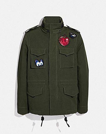 disney x coach skull m65 jacket