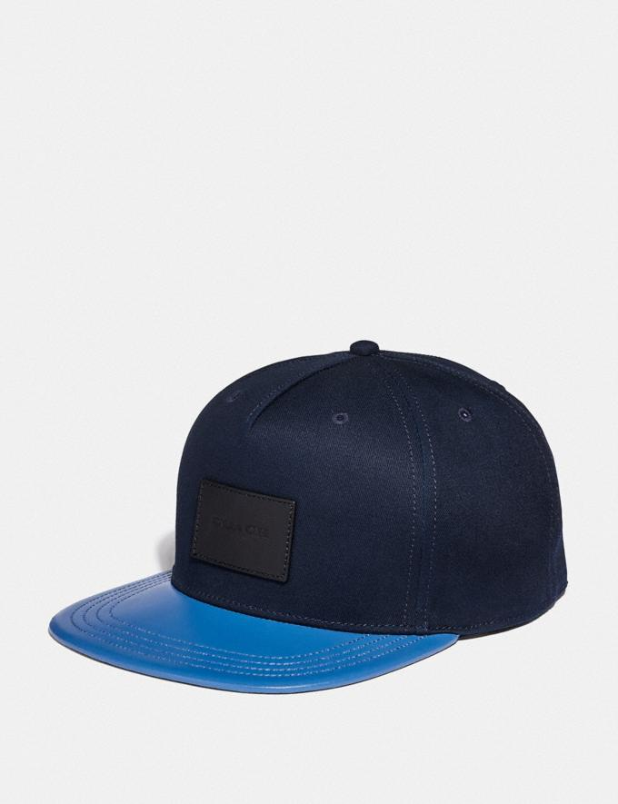 Coach Colorblock Flat Brim Hat Navy/Vintage Blue