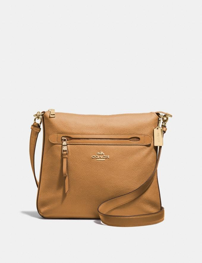 Coach Mae File Crossbody Light Saddle/Imitation Gold