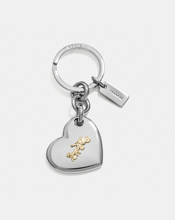 Coach HORSE AND CARRIAGE HEART BAG CHARM