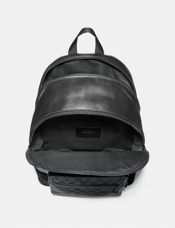 Coach West Backpack in Signature Canvas Charcoal/Black/Matte Black Explore Men Explore Men Travel Alternate View 1