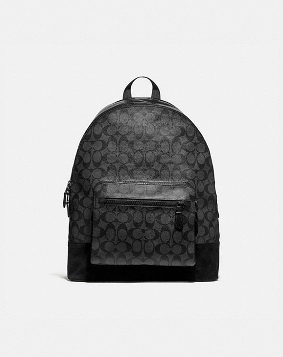 Coach WEST BACKPACK IN SIGNATURE CANVAS