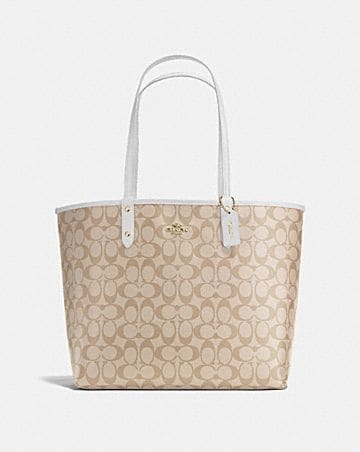 REVERSIBLE CITY TOTE IN SIGNATURE CANVAS