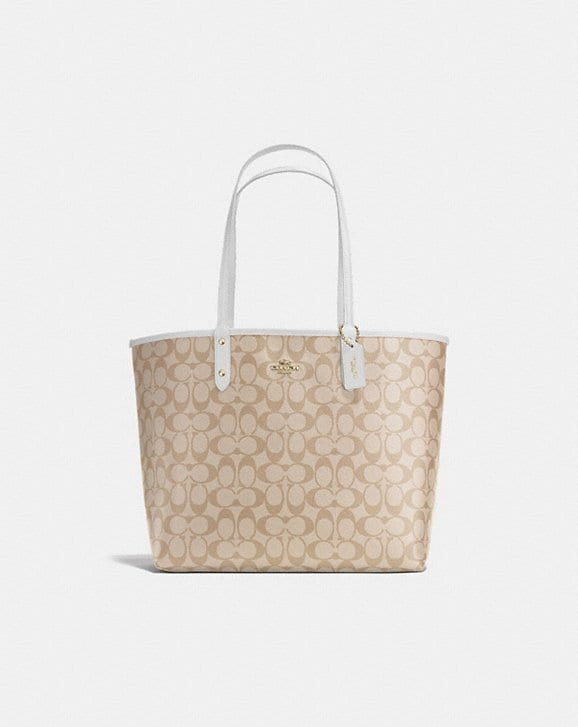 Coach REVERSIBLE CITY TOTE IN SIGNATURE CANVAS