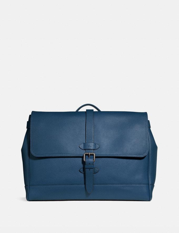 Coach Hudson Messenger Midnight Navy/Black Antique Nickel Explore Men Explore Men Bags