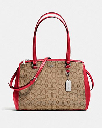 stanton carryall in signature jacquard