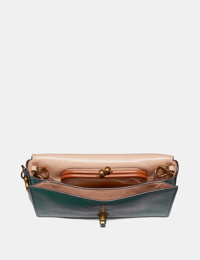 Coach Dinky With Tattoo Evergreen/Brass  Alternate View 1