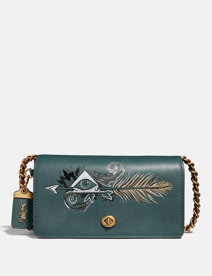 Coach Dinky With Tattoo Evergreen/Brass