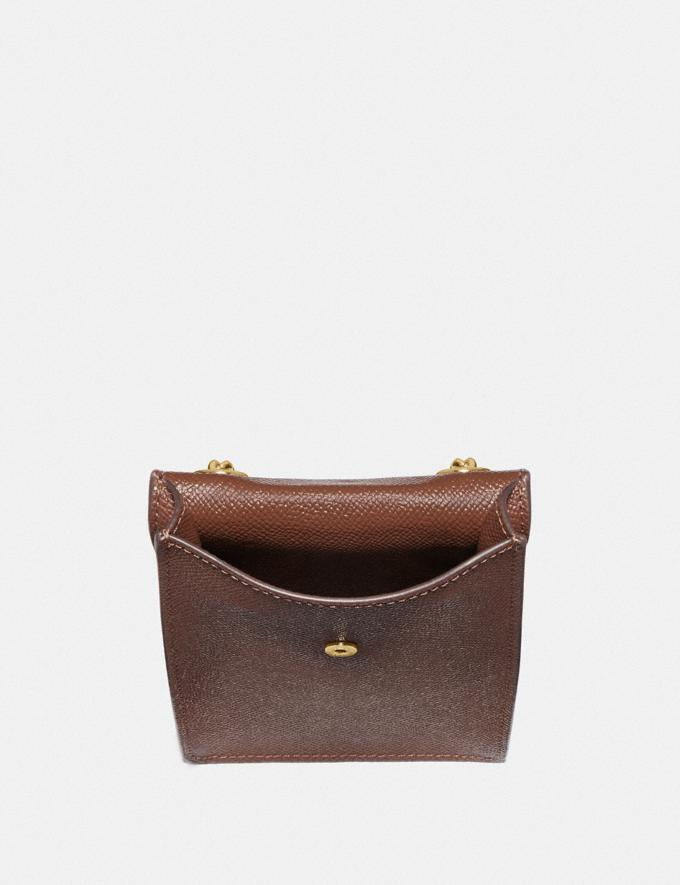 Coach North/South Phone Crossbody Saddle 2/Imitation Gold Explore Bags Bags Crossbody Bags Alternate View 1