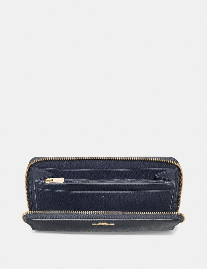 Coach Continental Zip Around Wallet Midnight/Imitation Gold Explore Women Explore Women Wallets Alternate View 1