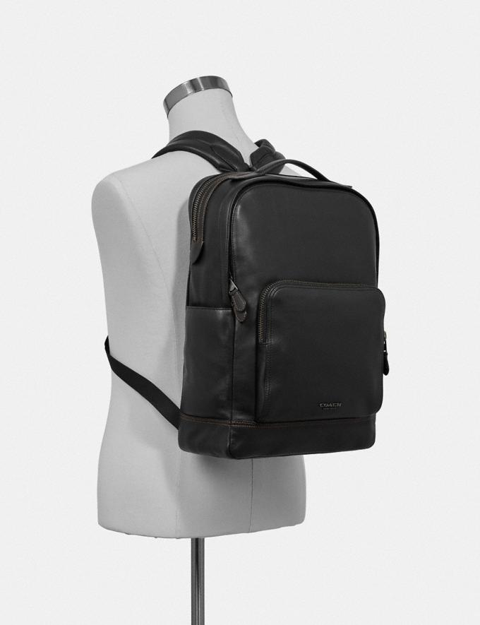 Coach Graham Backpack Black/Black Antique Nickel Explore Men Explore Men New Arrivals Alternate View 2