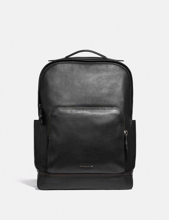 Coach Graham Backpack Black/Black Antique Nickel Explore Men Explore Men New Arrivals