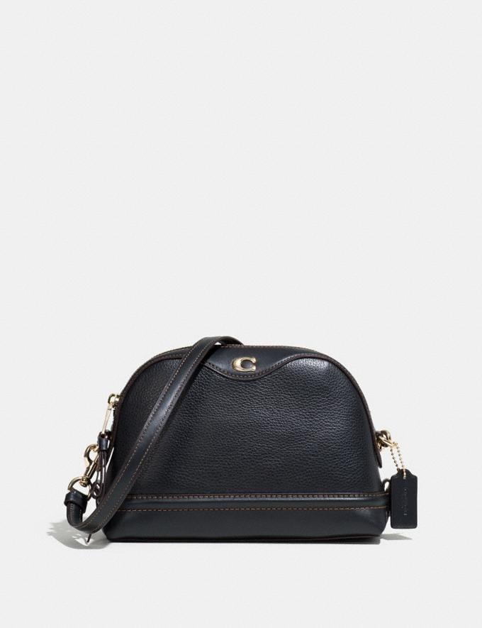 Coach Ivie Crossbody Black/Light Gold Explore Bags Bags