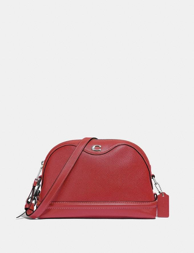 Coach Ivie Crossbody Washed Red/Silver Explore Bags Bags New Arrivals
