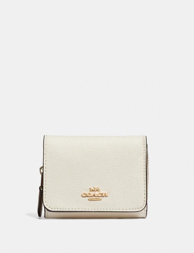 Coach Small Trifold Wallet Chalk/Light Gold