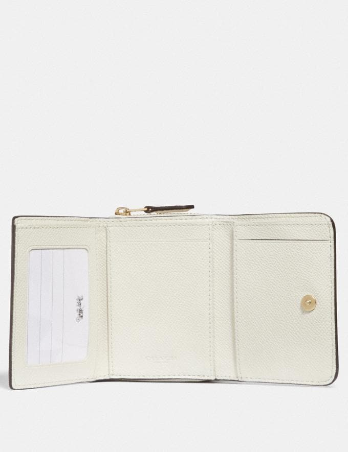 Coach Small Trifold Wallet Chalk/Light Gold  Alternate View 1