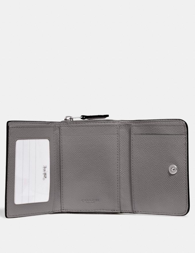 Coach Small Trifold Wallet Heather Grey/Silver Accessories Alternate View 1