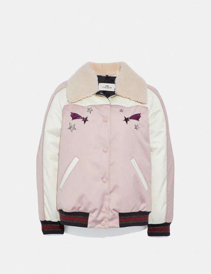 Coach Shooting Stars Souvenir Jacket Powder Pink Chalk