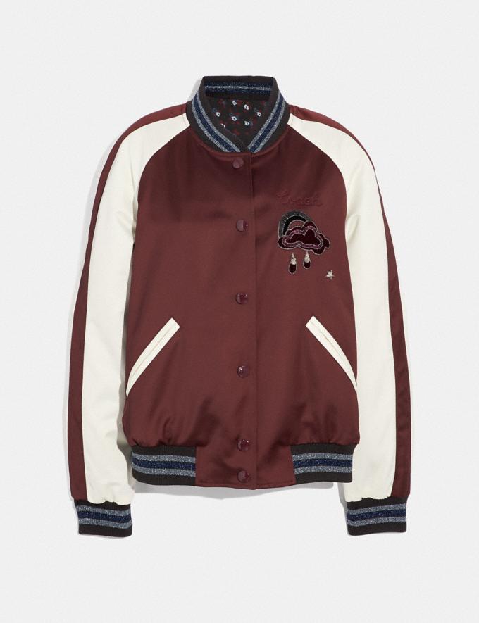 Coach Reversible Cloud Souvenir Jacket Burgundy/Multi