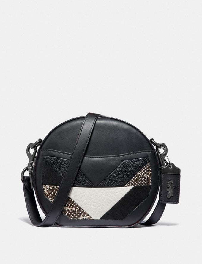 Coach Canteen Crossbody With Patchwork and Snakeskin Detail V5/Black Multi