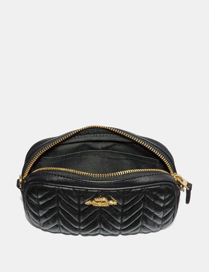 Coach Convertible Belt Bag With Quilting Black/Gold Clearance Alternate View 1