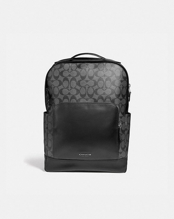Coach GRAHAM BACKPACK IN SIGNATURE CANVAS