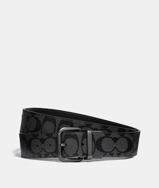 DAPPED COACH ROLLER CUT-TO-SIZE REVERSIBLE BELT IN SIGNATURE CANVAS