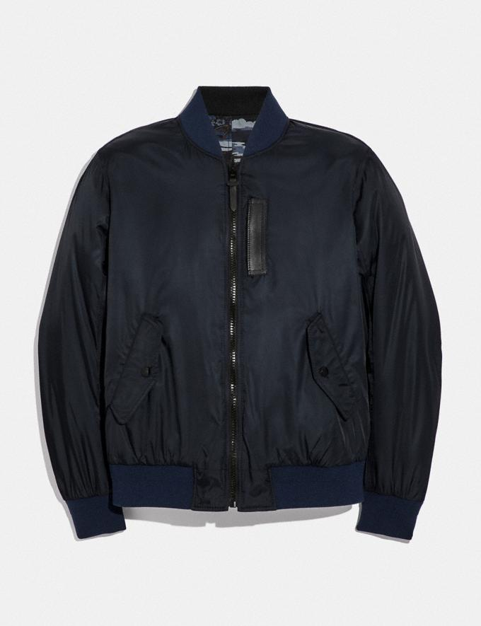 Coach Reversible Lightweight Ma-1 Jacket Spring Navy