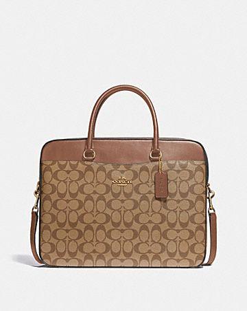 laptop bag in signature canvas