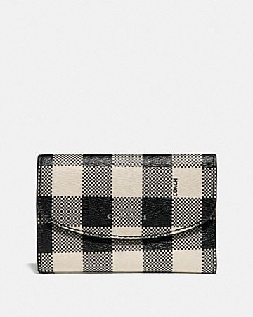 KEY CASE WITH GINGHAM PRINT
