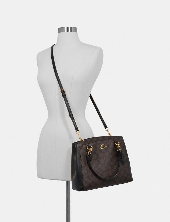 Coach Minetta Crossbody in Signature Canvas Brown/Black/Light Gold Explore Bags Bags Crossbody Bags Alternate View 2