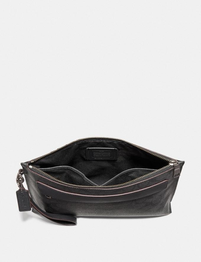 Coach Carryall Pouch in Signature Canvas Black/Black/Oxblood Explore Men Explore Men Travel Alternate View 1