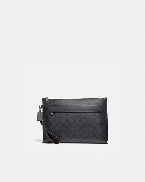 Coach CARRYALL POUCH IN SIGNATURE CANVAS