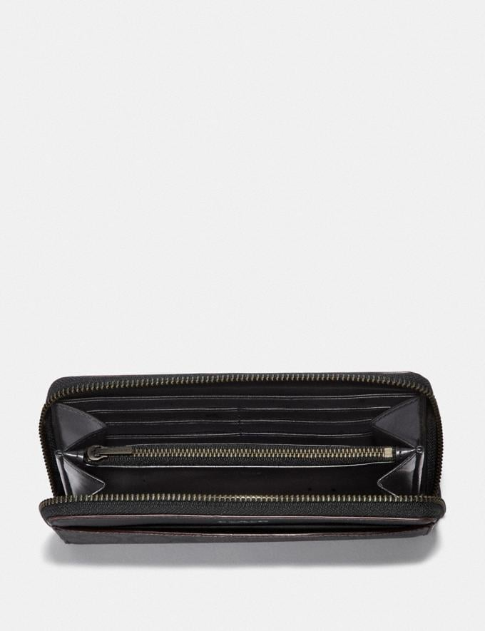 Coach Boxed Accordion Wallet Gift Set in Signature Canvas Black/Black/Oxblood  Alternate View 1