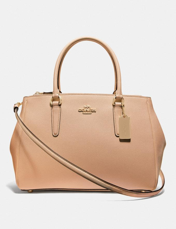 Coach Large Surrey Carryall Beechwood/Imitation Gold Explore Bags Bags Business Bags