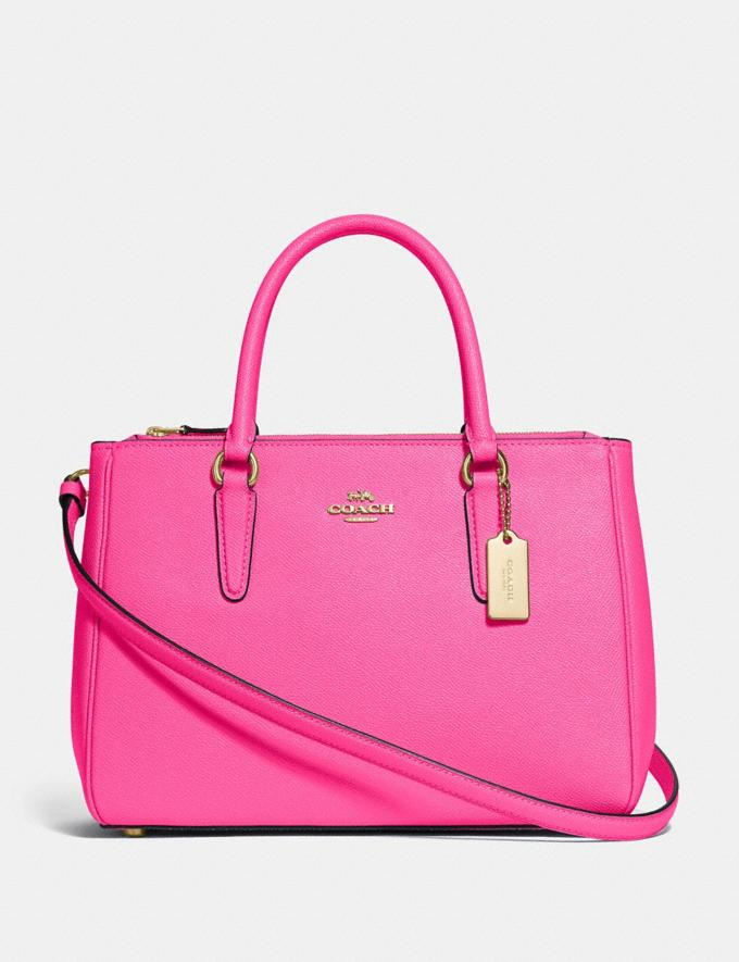 Coach Surrey Carryall Pink Ruby/Gold Explore Bags Bags
