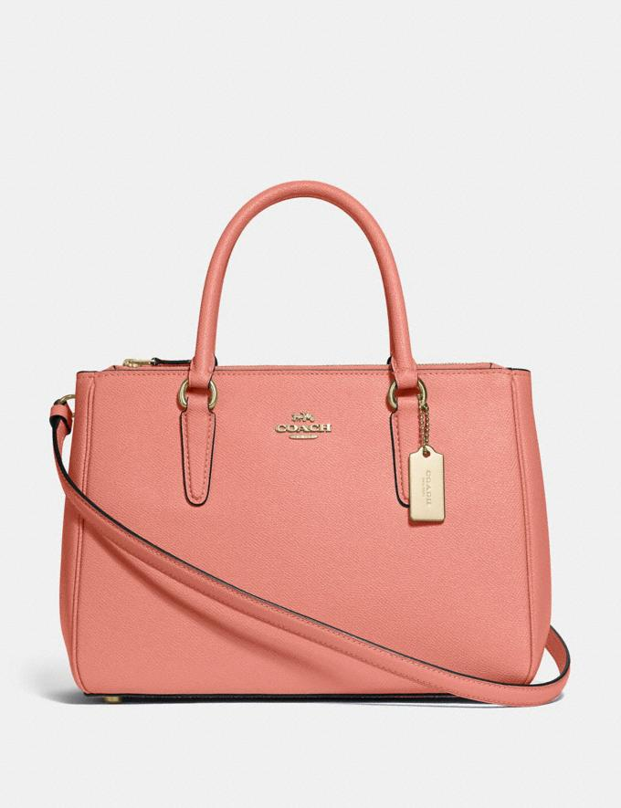 Coach Surrey Carryall Light Coral/Gold Explore Women Explore Women
