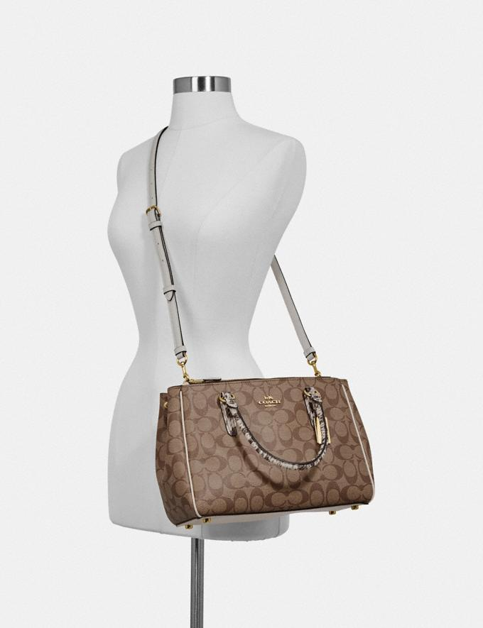 Coach Surrey Carryall in Signature Canvas Brown Black/Multi/Imitation Gold Bags Carryalls Alternate View 2